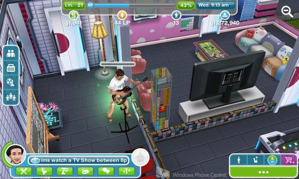 sims gameplay